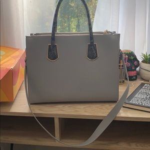 H&M Grey Faux Leather Handbag